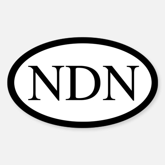 NDN Oval Design Oval Decal