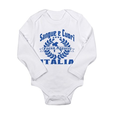 Forza Azzurri Long Sleeve Infant Bodysuit