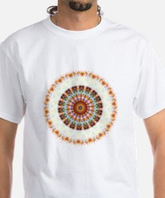 Detailed Orange Earth Mandala Shirt