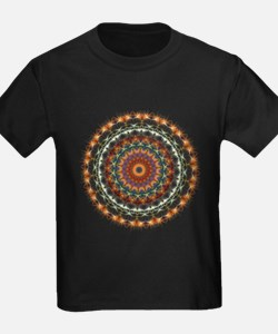 Detailed Orange Earth Mandala T