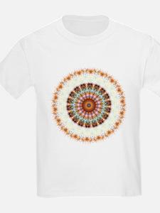 Detailed Orange Earth Mandala T-Shirt