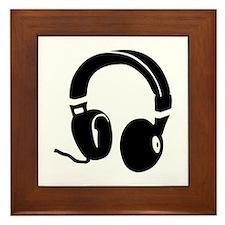Headphones Framed Tile