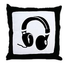 Headphones Throw Pillow