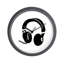 Headphones Wall Clock