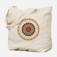 Detailed Orange Earth Mandala Tote Bag