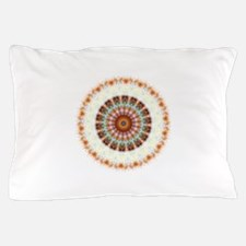Detailed Orange Earth Mandala Pillow Case