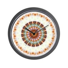 Detailed Orange Earth Mandala Wall Clock