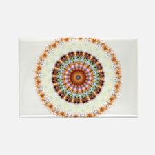 Detailed Orange Earth Mandala Rectangle Magnet (10