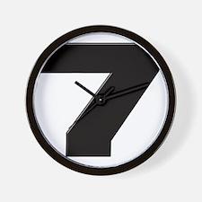 JS7blk Wall Clock