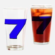 JS7blue Drinking Glass