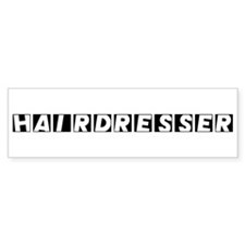 Hairdresser Bumper Car Sticker