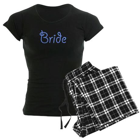 Bride Blue Text #3 - Women's Dark Pajamas