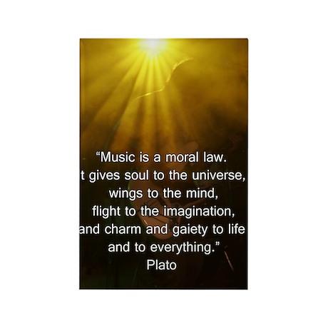 Plato on Music Rectangle Magnet