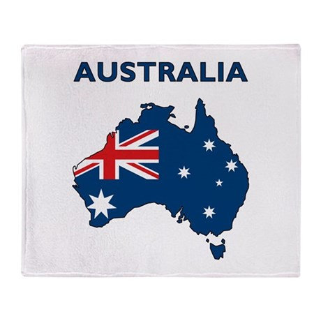Map Of Australia Throw Blanket