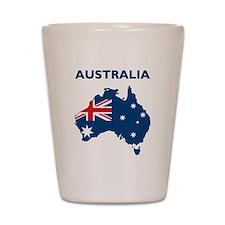 Map Of Australia Shot Glass