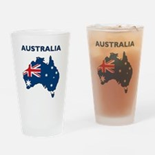 Map Of Australia Drinking Glass