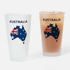 Map Of Australia Drinking Glass