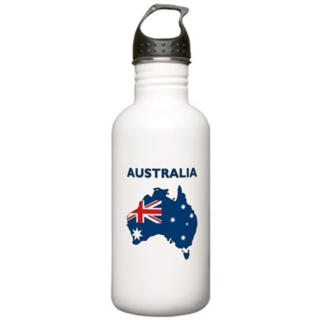 Map Of Australia Stainless Water Bottle 1.0L