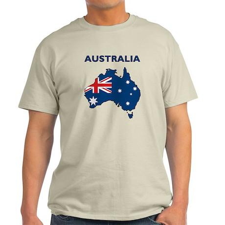 Map Of Australia Light T-Shirt