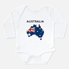 Map Of Australia Long Sleeve Infant Bodysuit