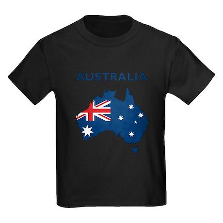 Map Of Australia Kids Dark T-Shirt