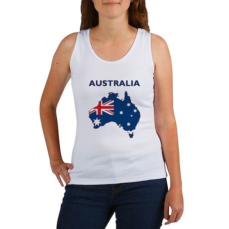 Map Of Australia Women's Tank Top