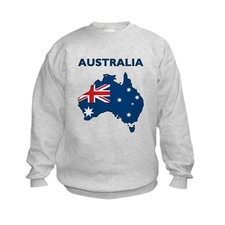 Map Of Australia Kids Sweatshirt