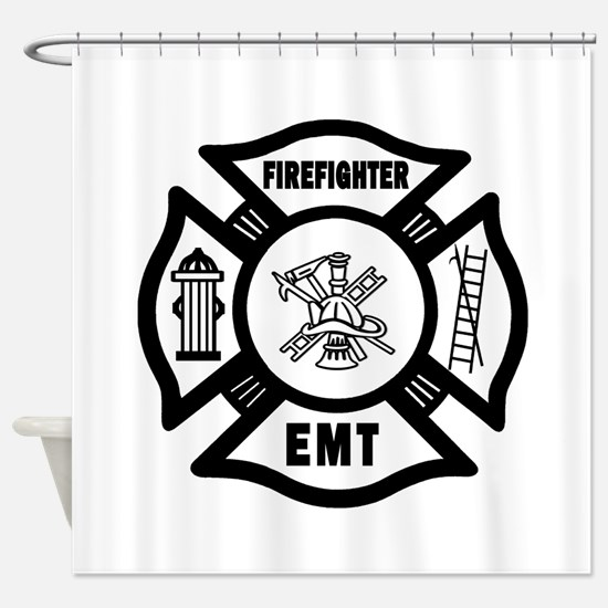 Firefighter EMT Shower Curtain