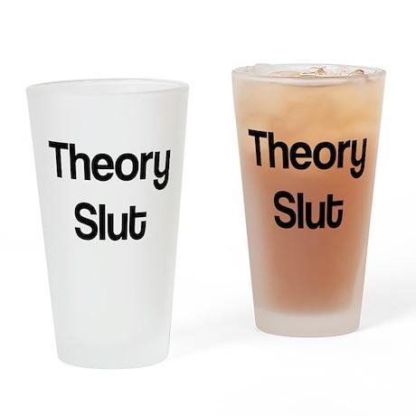 Theory Slut Drinking Glass