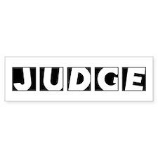 Judge Bumper Stickers