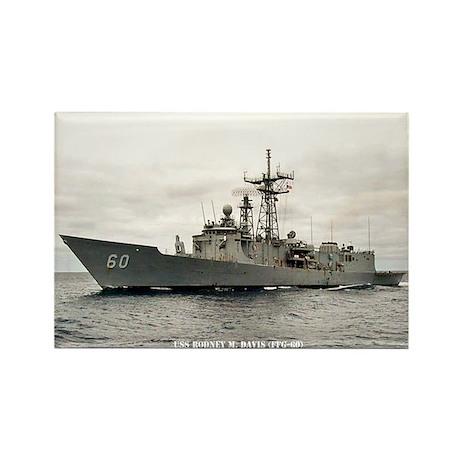 USS RODNEY M. DAVIS Rectangle Magnet