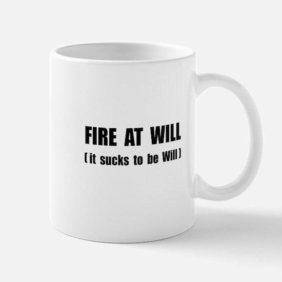 Fire At Will Mug