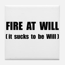 Fire At Will Tile Coaster