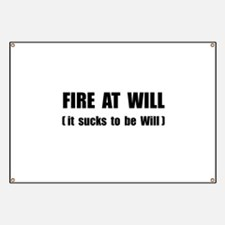 Fire At Will Banner