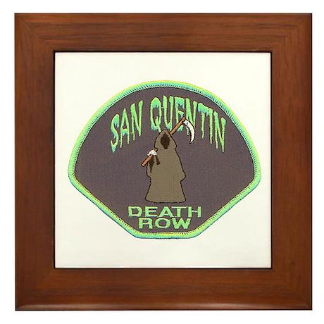 San Quentin Death Row Framed Tile by lawrenceshoppe