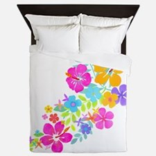 Tropical Flowers Queen Duvet