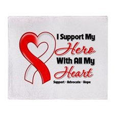 Oral Cancer Support Throw Blanket