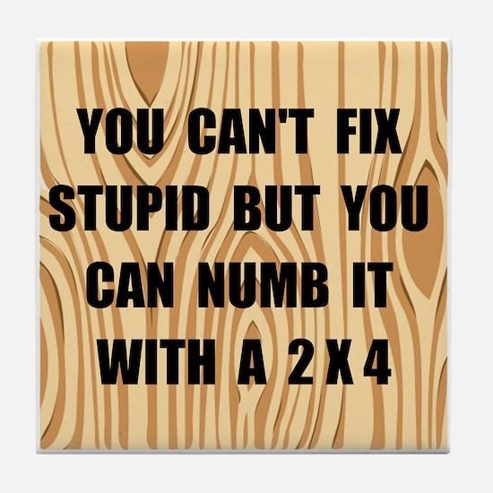 Numb Stupid Tile Coaster