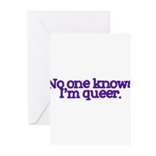 No One Knows I'm Queer Greeting Cards (Pk of 20)