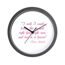 HG I wish I could freeze this moment Wall Clock