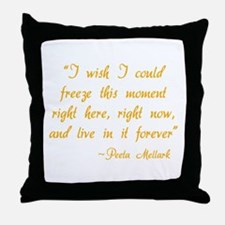 HG I wish I could freeze this moment Throw Pillow