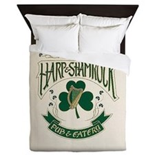 The Harp And Shamrock Queen Duvet