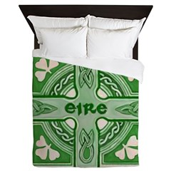 Symbols Of Ireland Queen Duvet