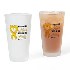 Neuroblastoma Support Drinking Glass