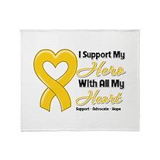 Neuroblastoma Support Throw Blanket