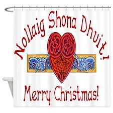 Christmas Celtic Loveknot Shower Curtain