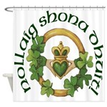 Gaelic Claddagh Christmas Shower Curtain