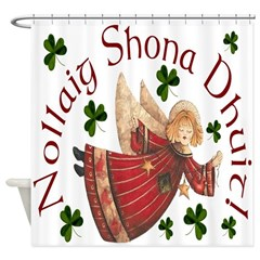 Gaelic Christmas Shower Curtain