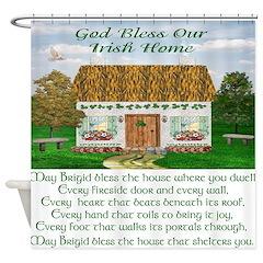 Irish Home Blessing Shower Curtain