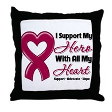 Multiple Myeloma Support Throw Pillow